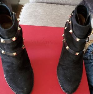 Valentino Shoes - Suede Rockstud boots
